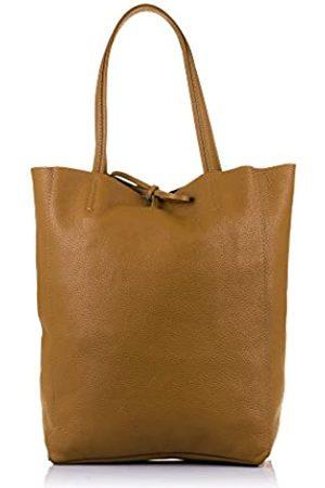 Firenze Artegiani Ledertasche Shopper Made IN Italy. AUTHENTISCHE ITALIENISCHE Haut 27x37x13 5 cm. Farbe: Leder