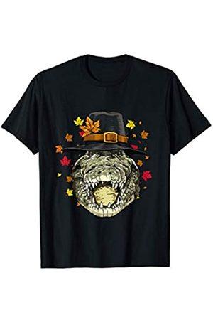 Wowsome! Thanksgiving Crocodile Pilgrim Costume Men Women T-Shirt