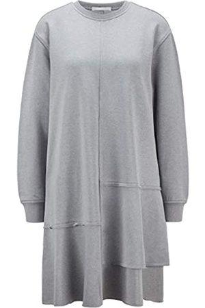 HUGO BOSS Damen C Eniki Relaxed-Fit Kleid mit vertiefter Taille und Volants-Saum