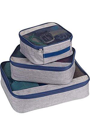 Lewis N. Clark Packwürfel + Reise-Organizer für Gepäck, Koffer oder zum Mitnehmen, mit atmungsaktivem Netzstoff, Pink (Muster, M, L)