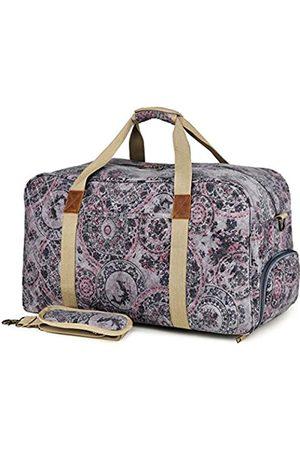 Kemy's Canvas Duffle Bag Women Overnight Weekender Bag Oversized Ladies Weekend Carryon Duffel Large - KM8020T-4