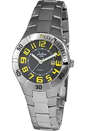 JUSTINA Damen Uhren - Analog Quarz Uhr mit Edelstahl Armband JPN14