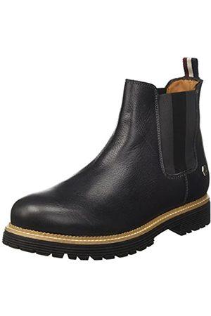 Tommy Hilfiger Herren Chelsea Boots - Herren L2385OUIS 2A Chelsea Boots, (Dark Shadow)
