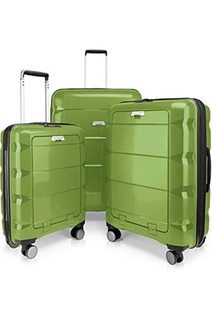 Hauptstadtkoffer Britz - 3er Koffer-Set Trolley-Set Rollkoffer Reisekoffer Erweiterbar, TSA, 4 Rollen, (S