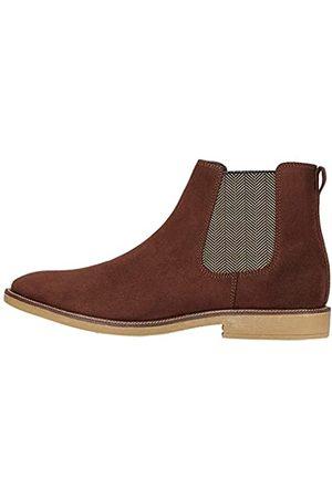 FIND Marsh Herren Chelsea Boots Stiefel, (Rich Brown Suede Look)