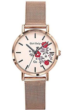 GO Girl Only Damen Uhren - Damen Analog Quarz Uhr mit Edelstahl Armband 695920