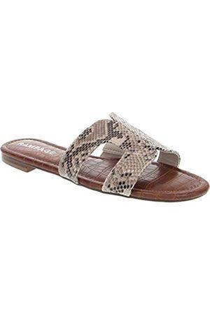 Rampage Ophelia H-Band-Sandalen mit Fußbett und Nieten aus Krokodil-Imitat, Beige (Natürlich/ohne Nieten)