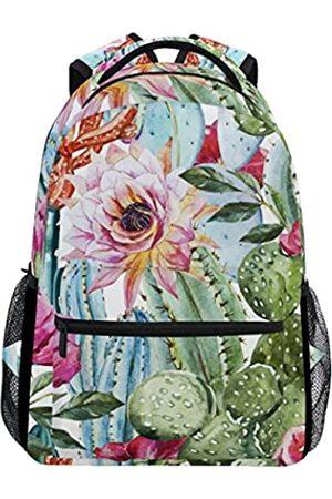 ULIFE U LIFE Rucksack Schultaschen Laptop Casual Tasche für Jungen Mädchen Kinder Männer Frauen Süße Blumen Tropical Kaktus