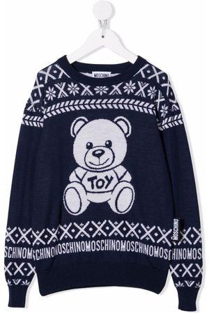 Moschino Kids Pullover mit Teddy-Motiv