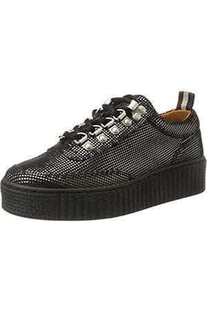 Tommy Hilfiger Damen K1385ELLY 1Z Sneaker, (Dark Silver)