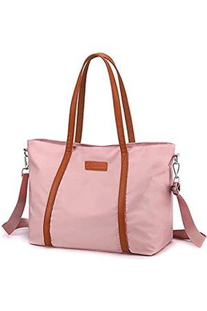 VOGUZY Laptop-Tragetasche für Damen, Nylon, Handtasche, Pink (rose)