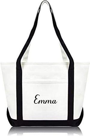 DALIX Damen Handtaschen - Damen Einkaufstasche, bestickt, Monogramm-Design, hochwertig
