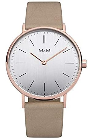 M&M Damen Uhren - DamenAnalogQuarzUhrmitLederArmbandM11892-992