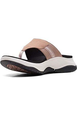 Clarks Herren Schuhe - Wave2.0 Sea. Dusty Pink Leather/Nubuck Combi 9.5 D - Wide