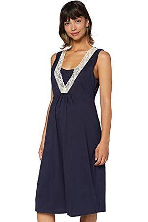 IRIS & LILLY Damen Kurzärmeliges Nachthemd aus Baumwolle , M