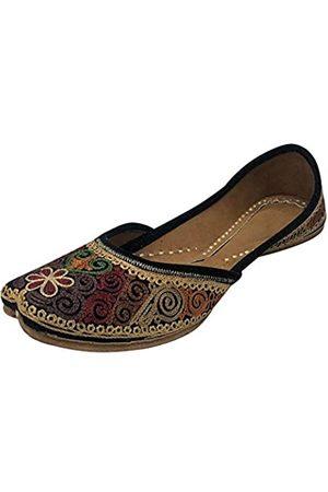 Step N Style Damen Halbschuhe - Jooti Punjabi Juti für Damen, ethnisch, handgefertigt, Mojari, handgefertigt, (mehrfarbig)