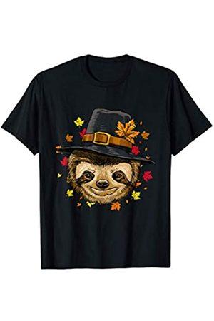 Wowsome! Thanksgiving Sloth Pilgrim Costume Men Women T-Shirt