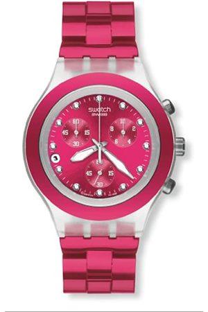 Swatch Damen-Armbanduhr Full Blooded Raspberry Damen-Chrono SVCK4050AG