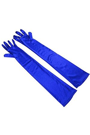 RUNHENG Damen Handschuhe - Damen Lange Satin Handschuhe Gr. 55 cm