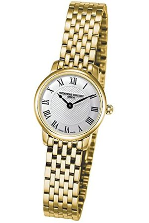 Frederique Constant Damen Uhren - Damen Analog Quarz Uhr mit Edelstahl beschichtet Armband FC-200MCS5B