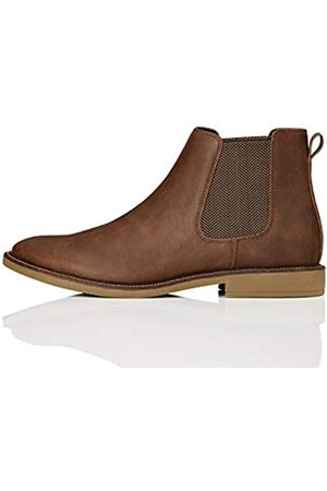 FIND Marsh Chelsea Boots, (Tan Leather Look)