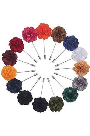 Pangda 15 Stücke Männer Brosche Pin Handgemacht Satin Blume Boutonniere Pin mit Gesch