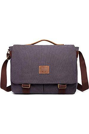 Nobranded Herren Laptop- & Aktentaschen - Damen und Herren Messenger Bag Canvas Schultertasche Vintage Canvas Echtleder 15 Zoll Laptop Umhängetasche