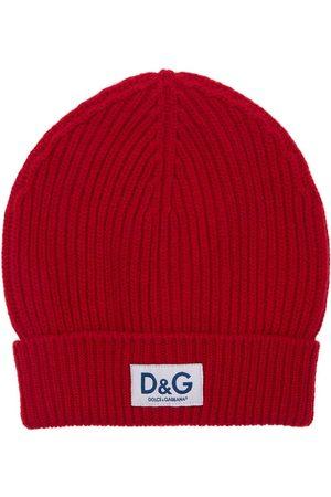 Dolce & Gabbana Beaniemütze Aus Wollstrick Mit D&g-logopatch