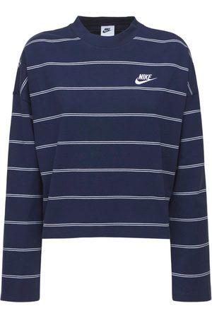 Nike Gestreiftes Oberteil Aus Baumwolle