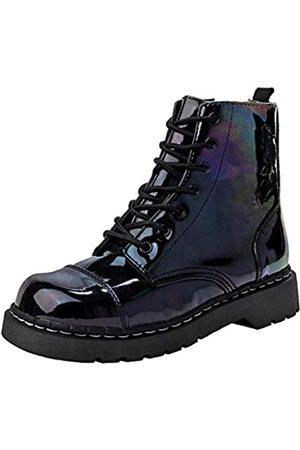 TUK Damen Stiefel - Damen Petrol Patent Combat Boot