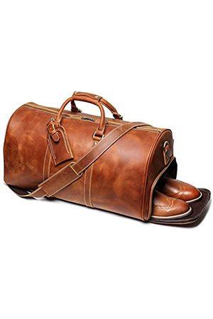 LEATHFOCUS Reisetasche aus Leder, klassische Leder-Wochenendtasche für Herren, Geschenk über Nacht, Retro, Sport, Fitnessstudio, Handgepäck