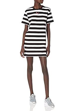 PUMA Damen Summer Stripes All Over Print Dress Kleid, Black