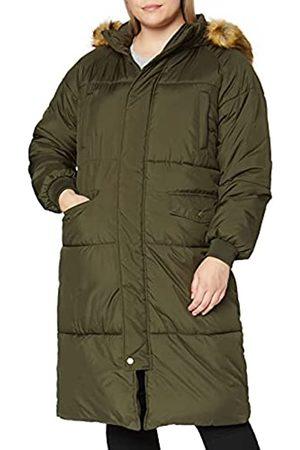Urban classics Damen Ladies Oversize Faux Fur Puffer Coat Jacke