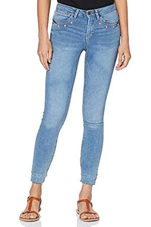 Springfield Damen 5.Gym.Slim Crop Bordado Bolsillos-c/14 Straight Jeans