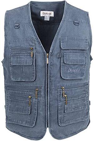 LUSI MADAM Herrenweste aus Jeans, Stone-Washed, mit mehreren Taschen, Herren