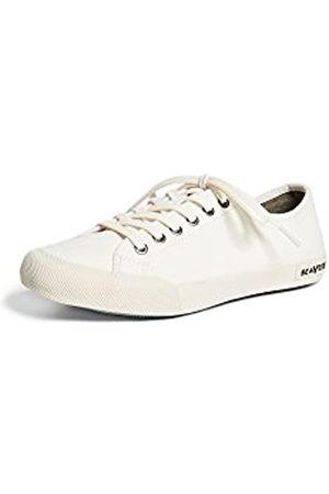Seavees Damen Schnürschuhe - Damen Monterey Schnürschuh Sneaker, Wei (Gebleicht)