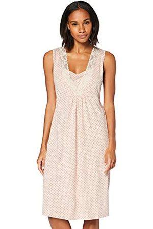 IRIS & LILLY Damen Kurzärmeliges Nachthemd aus Baumwolle, Pink (Pink), L