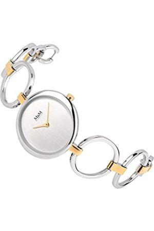 M&M Damen Analog Quarz Uhr mit Edelstahl Armband M11930-362