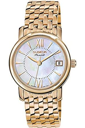 DUGENA Damen Uhren - Damen-Armbanduhr 7090157 Rondo Petit, Quarzfarbenes Zifferblatt, Edelstahlgehäuse, Saphirglas, Edelstahlarmband, Doppelfaltdrückerschließe