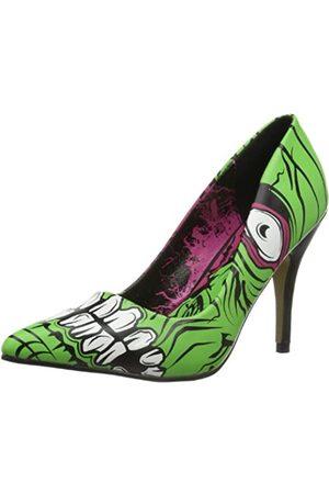 Iron Fist Damen Pumps - Damen Zombie Stomper Heel Pumps, (Green)