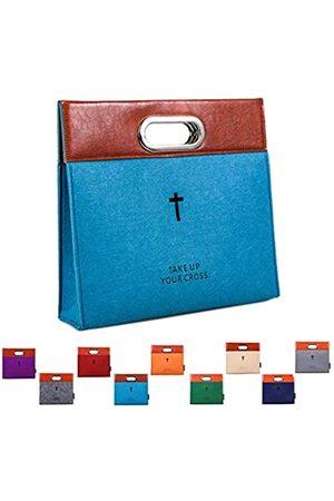 AGAPASS Bibel-Tragetasche, Handtasche, Filz-Bibelüberzug für Frauen und Männer, Bibel-Tragetasche, Reißverschluss, Aktentasche, Ledertasche, Kirchenstudio-Tasche, (Medium