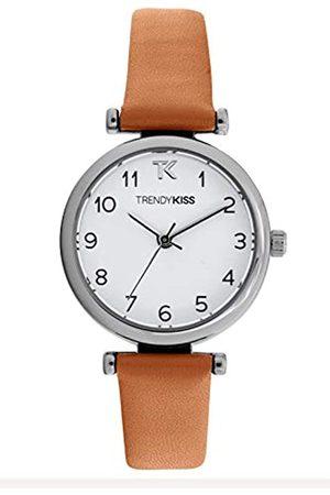 Trendy Kiss Damen Analog Quarz Uhr mit Leder Armband TC10134-01