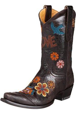 Old Gringo Damen Cowboy & Bikerboots - Damen Checruda Westernstiefel, Braun (Schokoladenbraun/mehrfarbig)