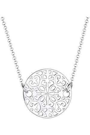 Elli Halskette Damen Ornament Münze Anhänger Boho aus 925 Sterling