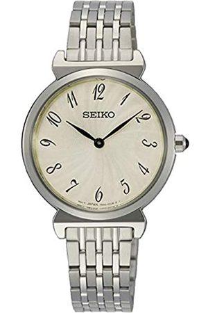 Seiko Quarz Damen-Uhr Edelstahl mit Metallband SFQ801P1