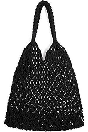 Ayliss Damen Handtaschen - Handgemachte Strohtasche Reise Strand Angeln Netz Handtasche Shopping Gewebte Schultertasche für Frauen, ( #1)