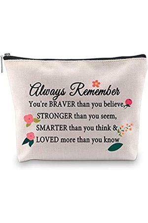 G2TUP Kollegen Abschiedsgeschenke Freundschaft Kosmetiktasche 2021 Geschenktaschen für Frauen Mädchen Always Remember You're Braver than You Believe