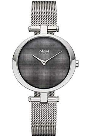 M&M Damen Uhren - DamenAnalogQuarzUhrmitEdelstahlArmbandM11931-148