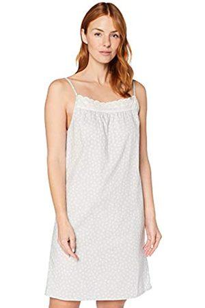 IRIS & LILLY Damen Ärmelloses Nachthemd aus Baumwolle, (Grey Dot), XS