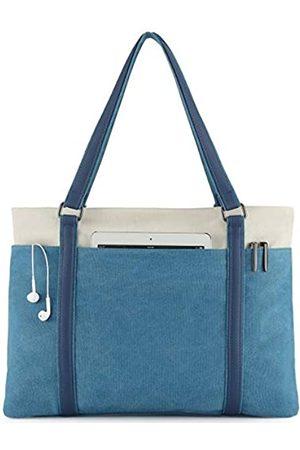 Wearigoo Damen Handtaschen - Laptop-Tragetasche für Damen, 39,6 cm (15,6 Zoll), Segeltuch, große Schultertasche